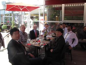 Déjeuner avec les collègues de Tsinghua
